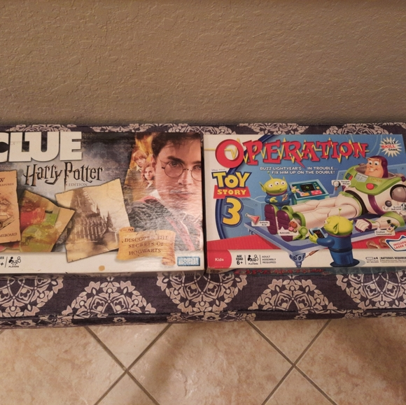 Board games. Like new. Priced each